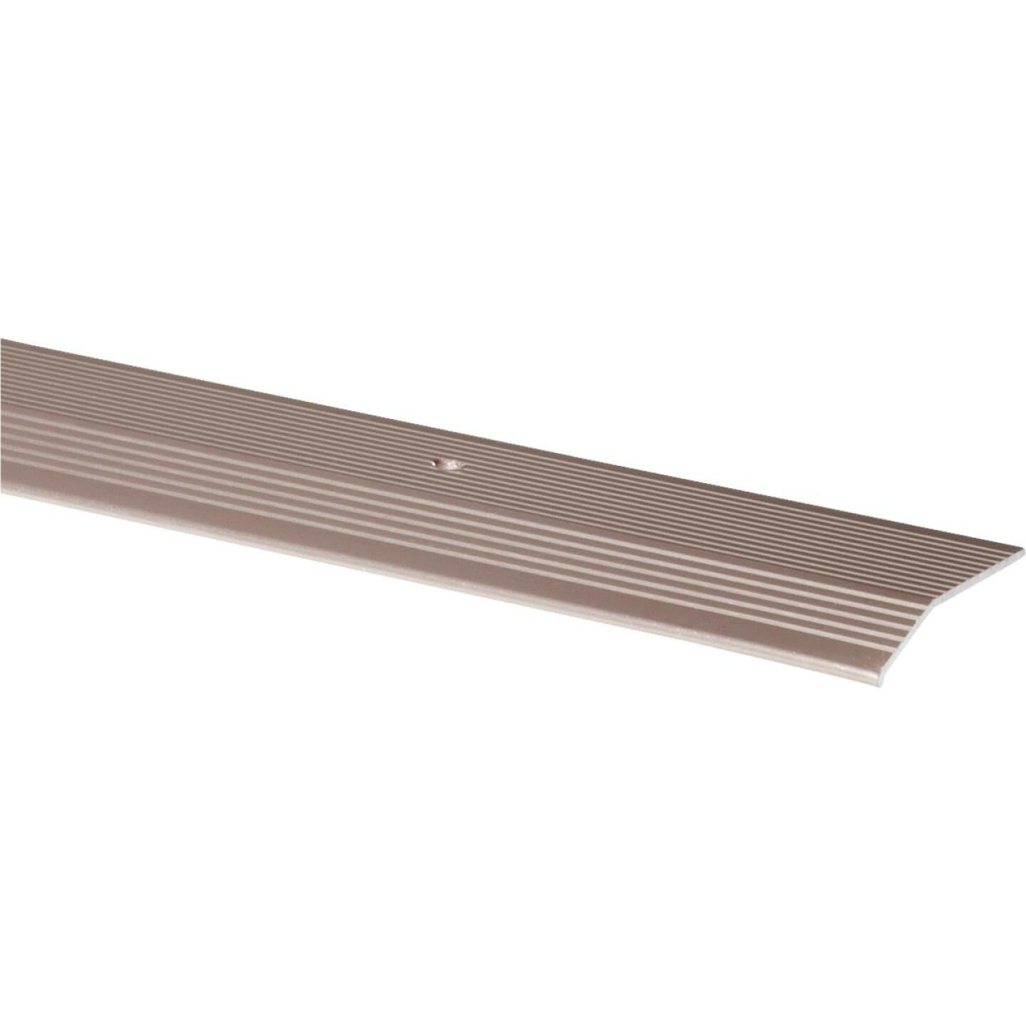 M-D Pewter Fluted 2 In. x 3 Ft. Aluminum Carpet Trim Bar, Extra Wide Image 1
