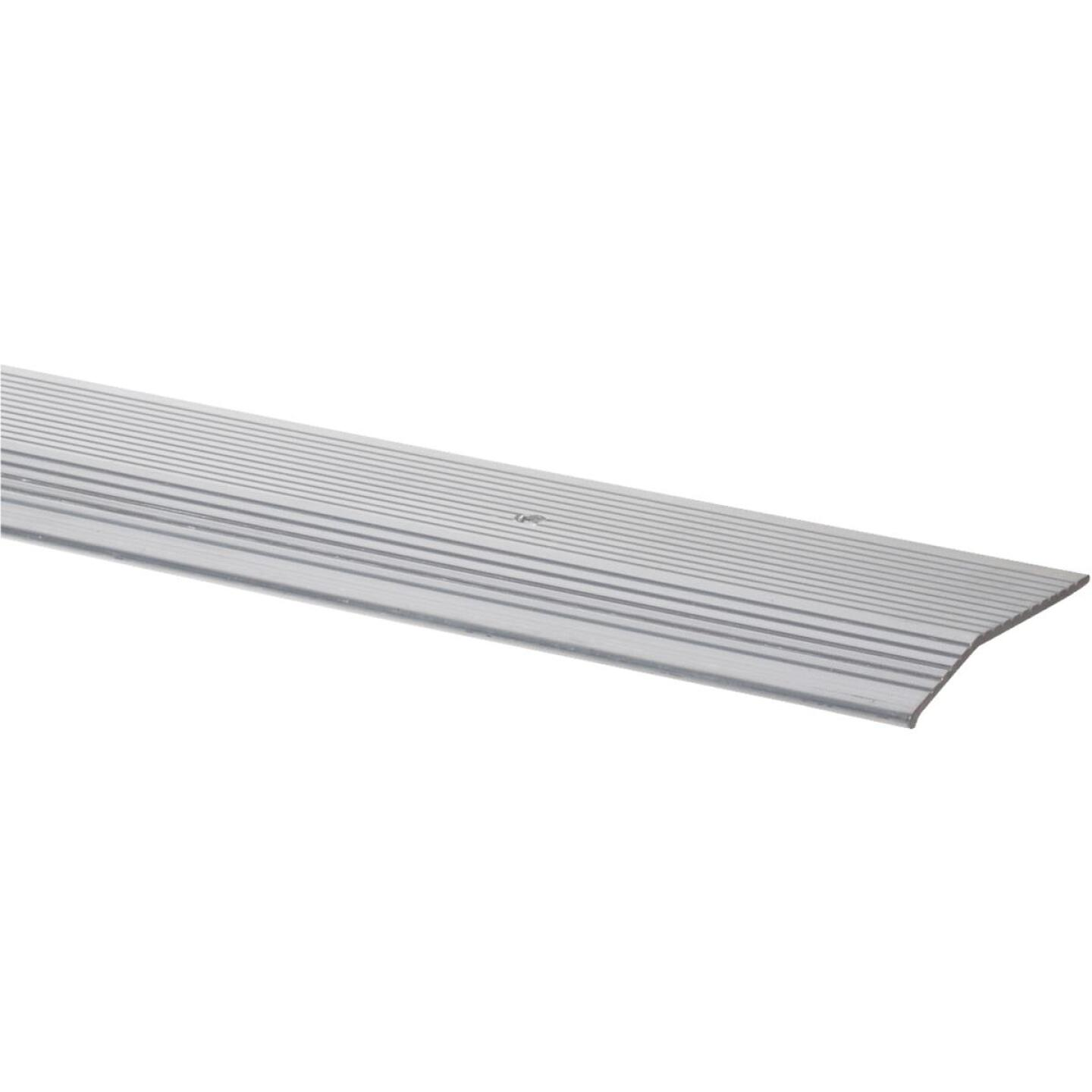 M-D Satin Silver Fluted 2 In. x 3 Ft. Aluminum Carpet Trim Bar, Extra Wide Image 1