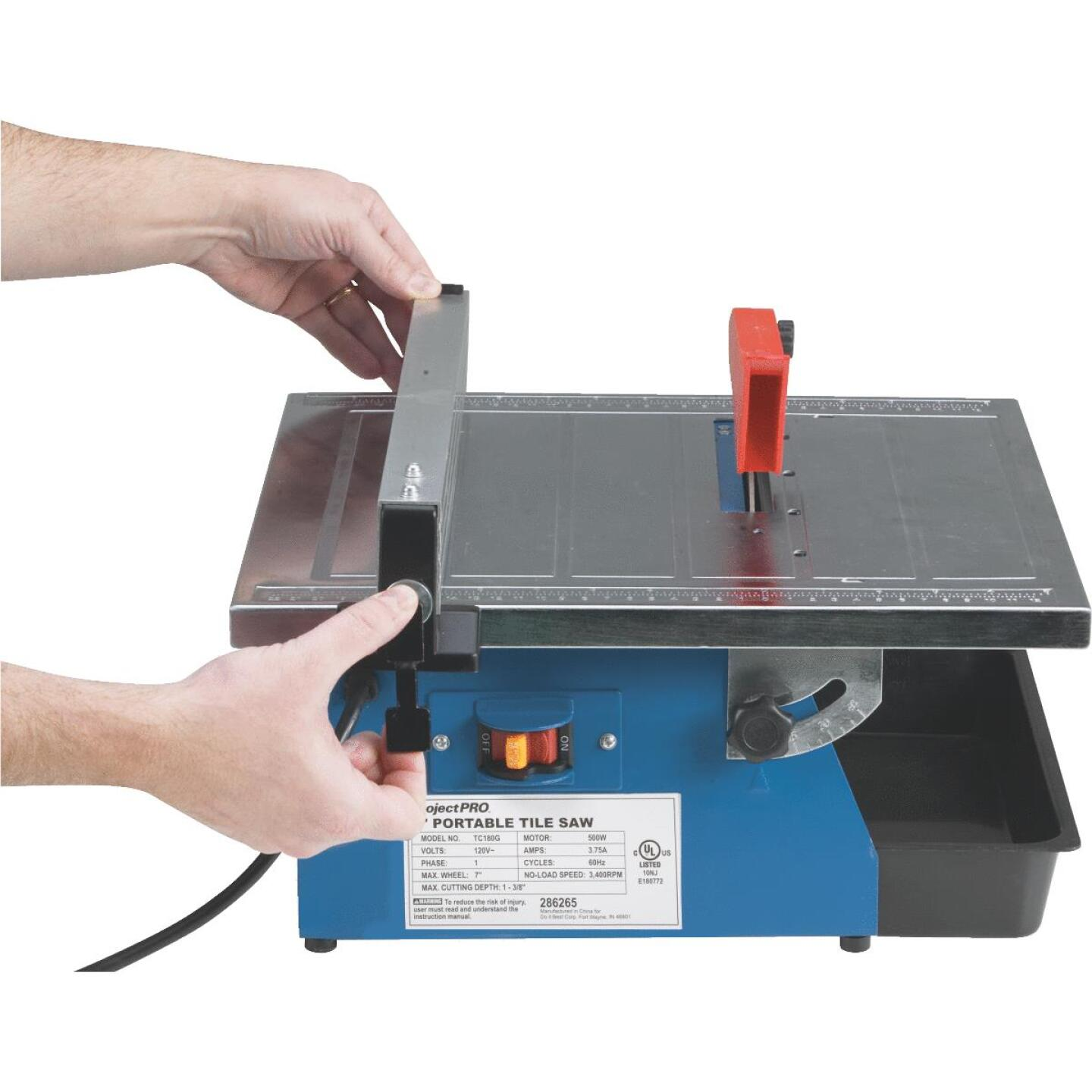 Project Pro 7 In. Portable Tile Saw Image 11