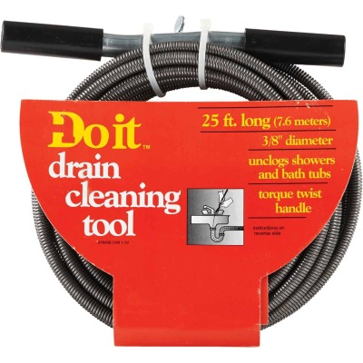 Do it 3/8 In. x 25 Ft. Galvanized Steel Handle Wire Cleanout Drain Auger