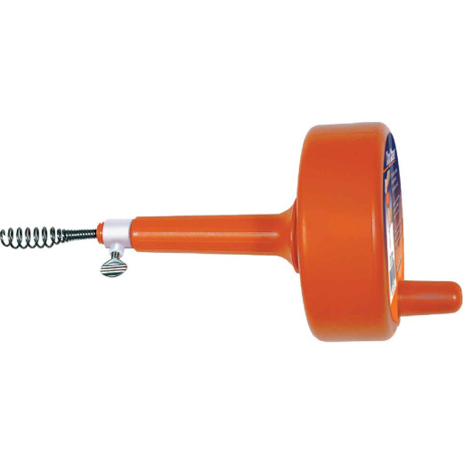 General Wire 3/8 In. x 25 Ft. Plastic Drum Drain Auger