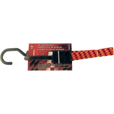 Erickson 3/4 In. x 18 In. Flat Bungee Cord, Red/Black