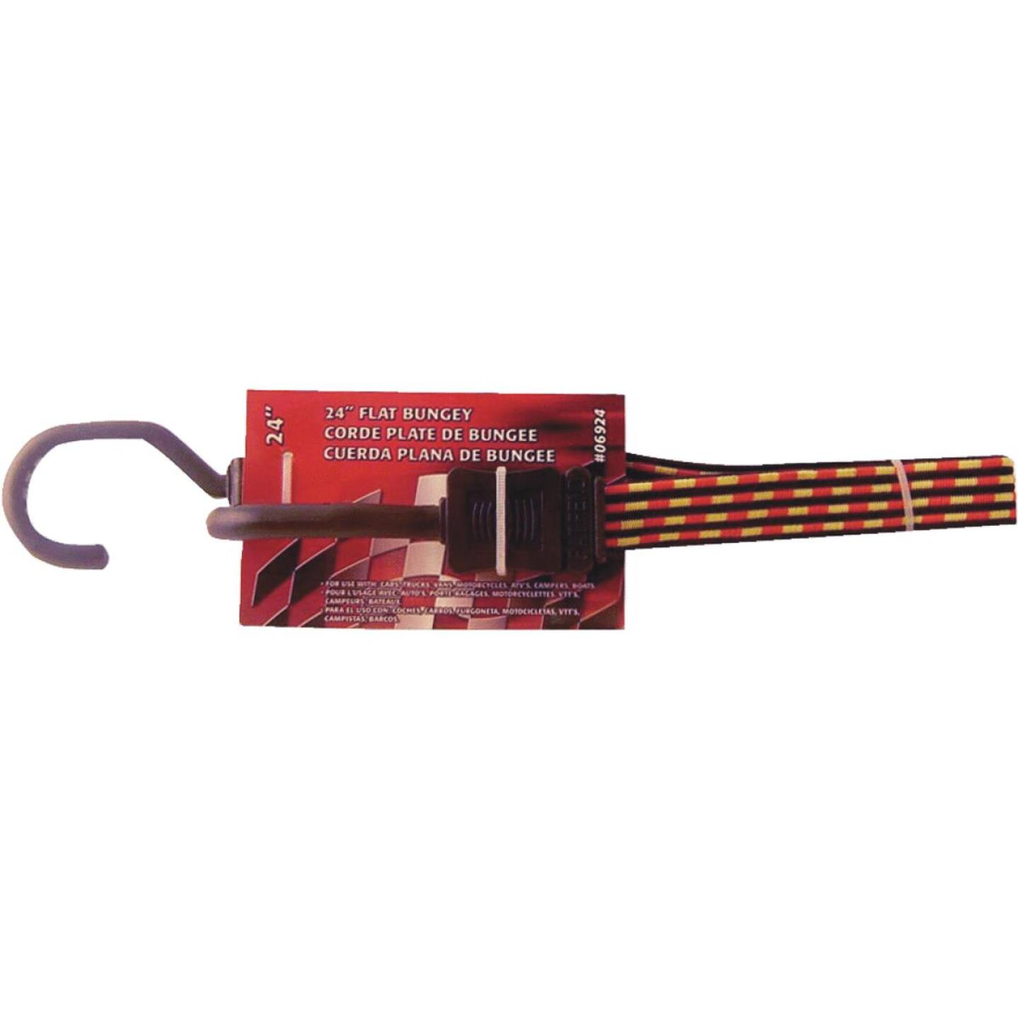 Erickson 3/4 In. x 24 In. Flat Bungee Cord, Red/Yellow Image 1