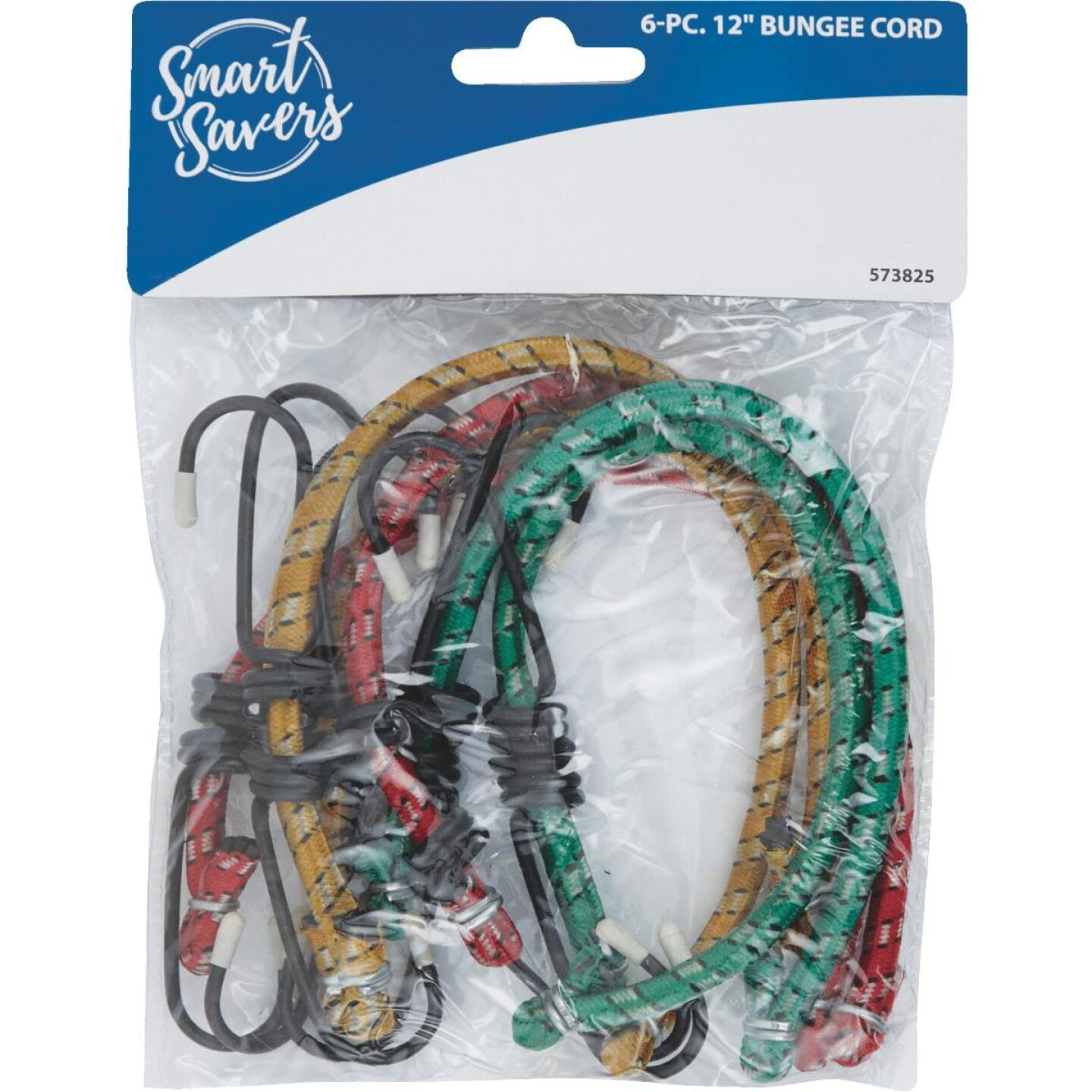 Smart Savers 6mm x 12 In. Coated Bungee Cord (6-Pack) Image 2