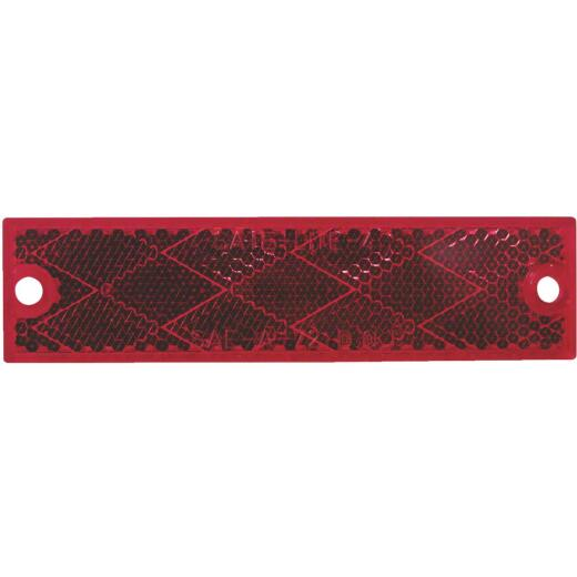 Peterson 1-1/8 In. W. x 4-7/16 In. H. Compact Rectangular Red Reflector