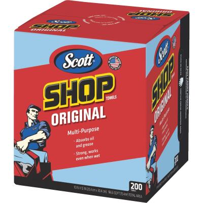 Scott 13 In. W x 10 In. L Disposable Original Shop Towel (200-Sheets)