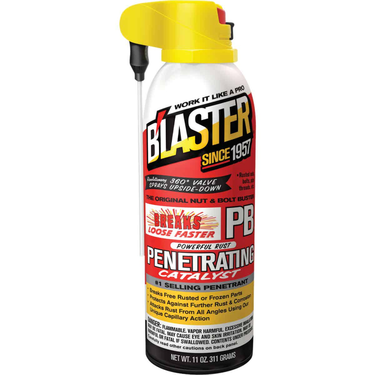 Blaster 11 Oz. Aerosol PB Penetrating Catalyst Penetrant with ProStraw Delivery System Image 1