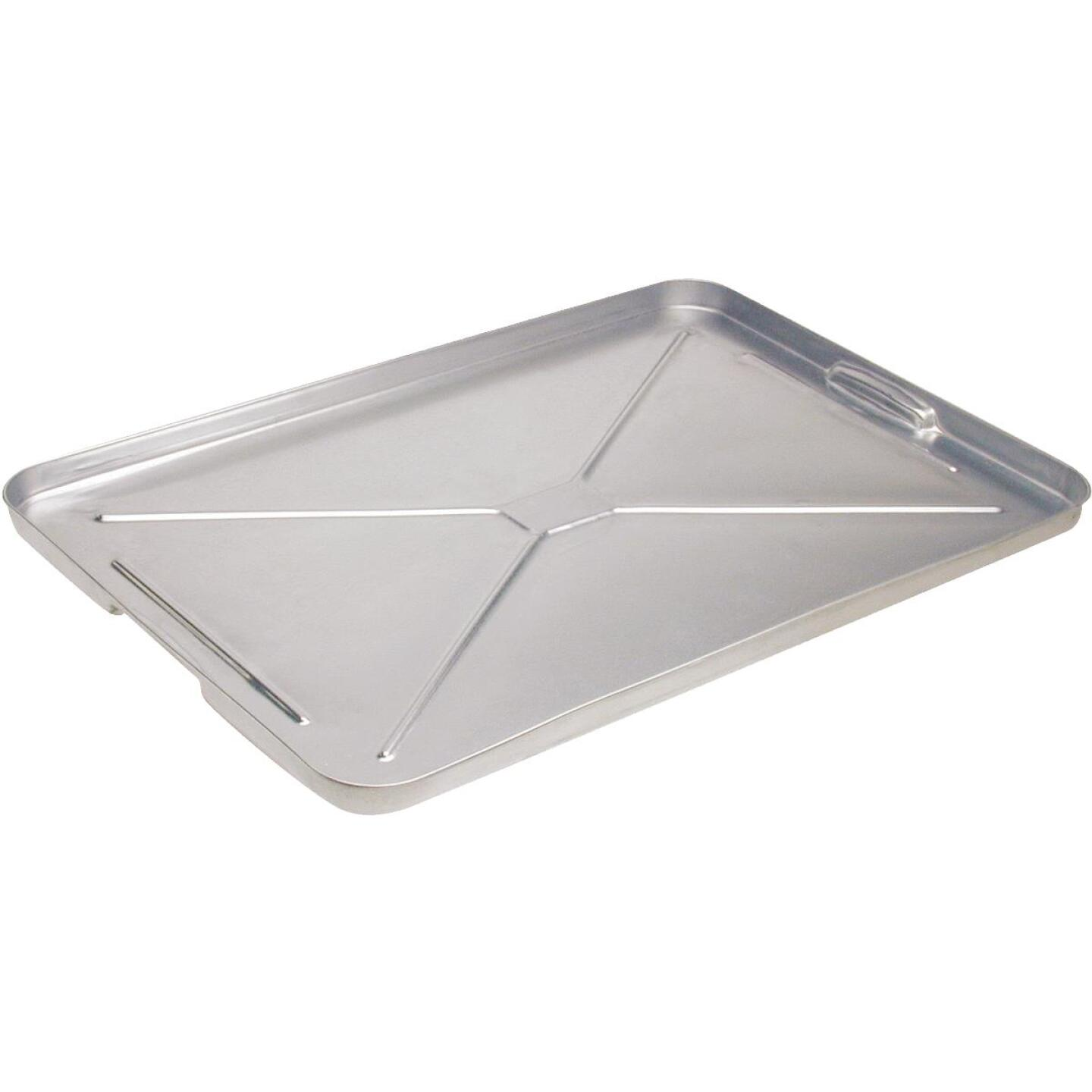 "Plews Lubrimatic 16"" x 25"" Galvanized Metal Auto Drip Pan Image 1"