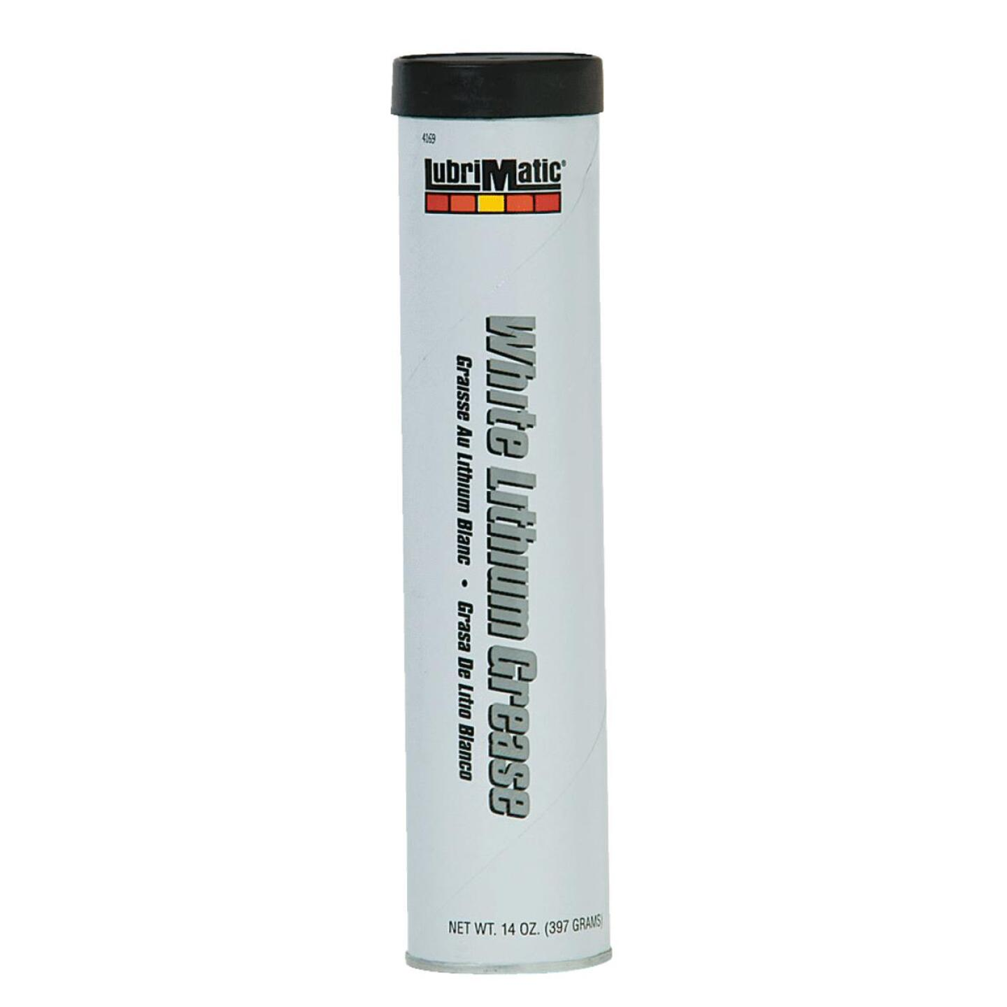 LubriMatic 14 Oz. Cartridge White Lithium Grease Image 1