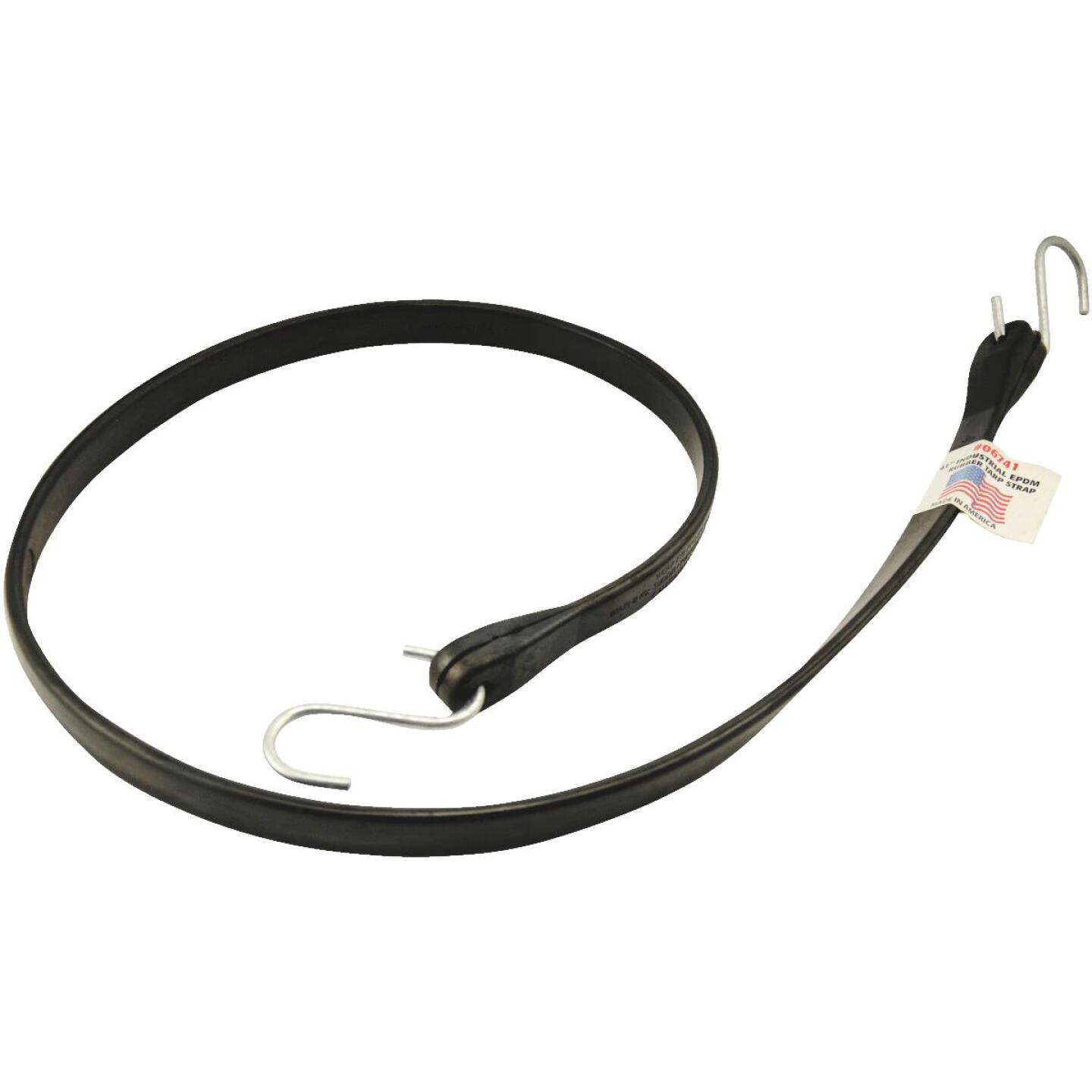 Erickson 44 In. Hook to Hook Black Industrial EDPM Rubber Tarp Strap Image 1