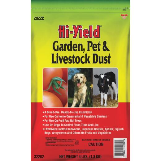 Hi-Yield 4 Lb. Ready To Use Pet, Livestock, & Garden Dust Insect Killer