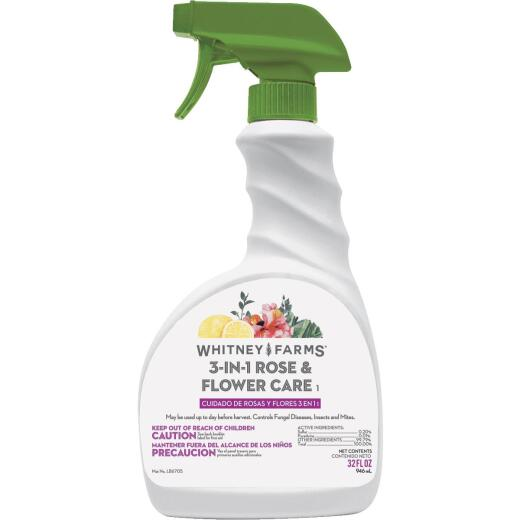 Whitney Farms 3-In-1 32 Oz. Ready To Use Trigger Spray Flower & Rose Insect Killer