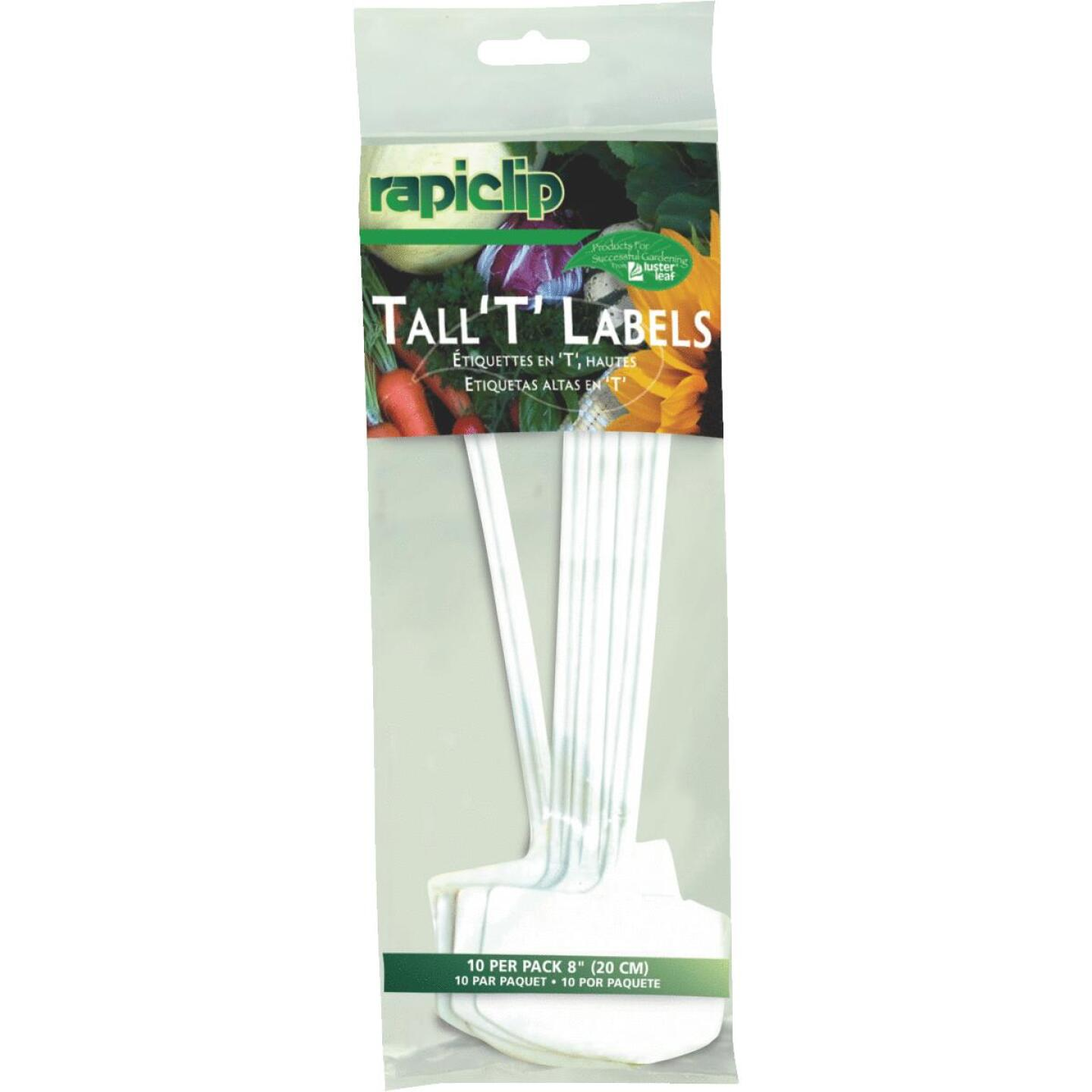 Rapiclip 8 In. Plastic Plant & Garden Marker T-Label (10-Pack) Image 1