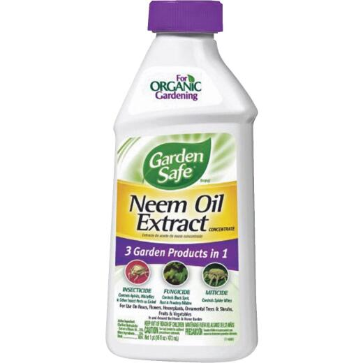 Garden Safe 16 Oz. Liquid Concentrate Neem Oil Extract Fungicide