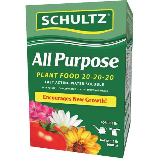 Schultz 1.5 Lb. 20-20-20 All Purpose Fast Acting Water Soluble Plant Food