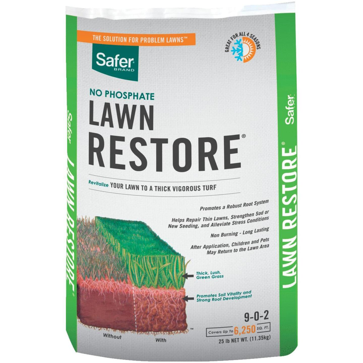 Safer Lawn Restore 25 Lb. 6250 Sq. Ft. 9-0-2 Lawn Fertilizer Image 1