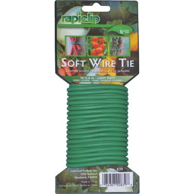 Rapiclip 16 Ft. Green PVC/Rubber Light-Duty Garden Twist Tie