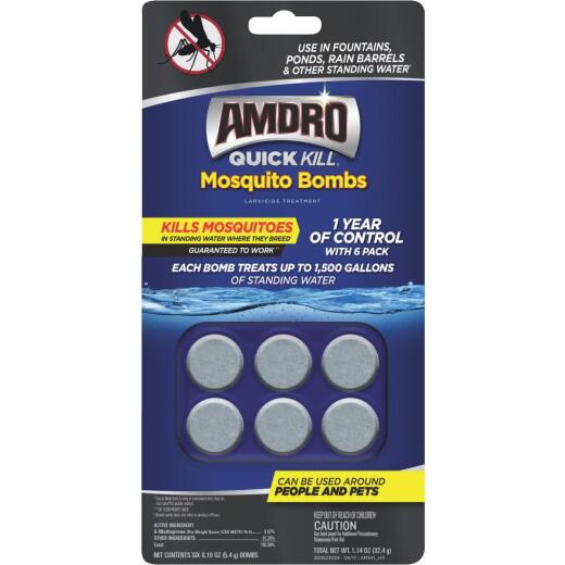 Amdro Quick Kill Ready To Use Tablet Mosquito Bombs, (6-Pack)