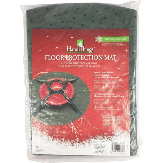 HandiThings 28 In. Christmas Tree Floor Protection Mat