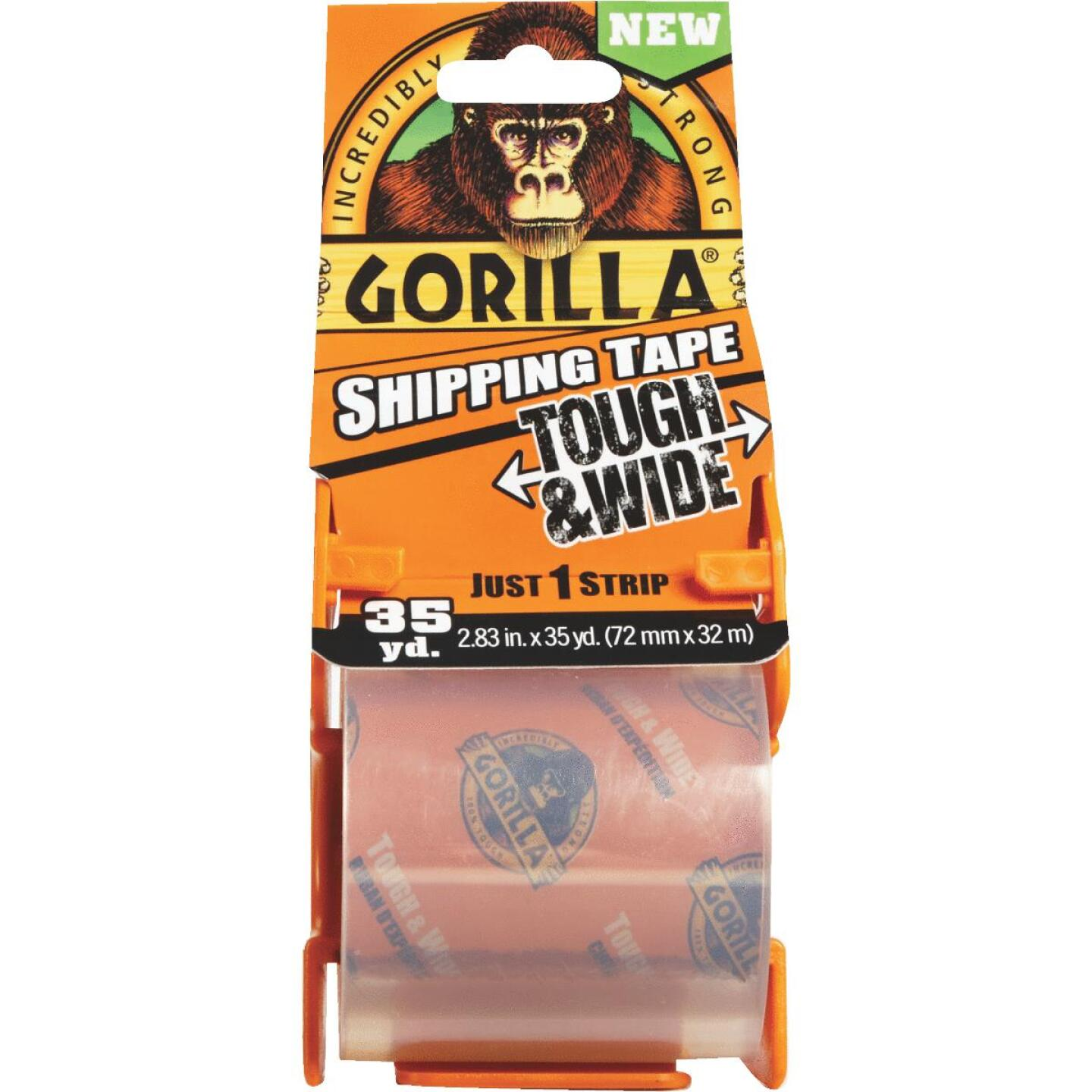 Gorilla 2.83 In. W. x 35 Yd. L. Clear Shipping Tape Image 2